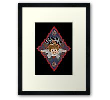 The Dude Can Fly Framed Print