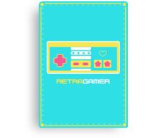 Retra Gamer - NES Controller Canvas Print
