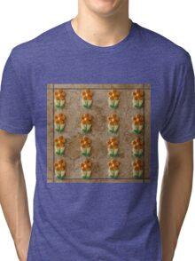 Tile of Flowers Tri-blend T-Shirt