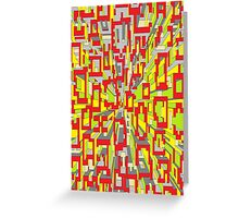 one point colour warp Greeting Card