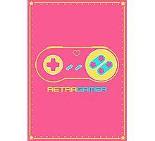 Retra Gamer - SNES Controller Photographic Print