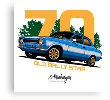 Ford Escort RS1600 (blue) Canvas Print