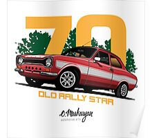 Ford Escort RS1600 (red) Poster