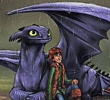 Hiccup & Toothless by Mellark90