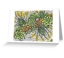 Zen Cactii by Rednib Greeting Card