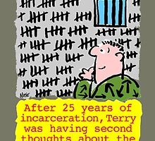 Cartoon - 25 Years Jail. by Nigel Sutherland