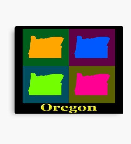 Colorful Oregon Pop Art Map Canvas Print