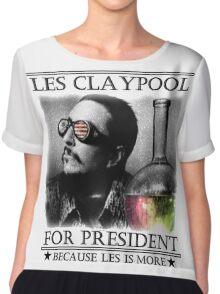 ✮ LES CLAYPOOL FOR PRESIDENT ✮ Chiffon Top