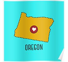Oregon State Heart Poster