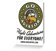 GoAviator - Flight Adventures for Everyone (No Wings) Greeting Card
