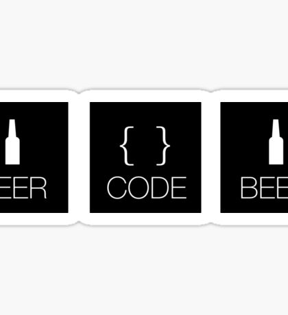 beer. code. beer. Sticker