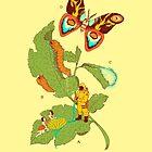 Papilio Insulaeinfanum praegrandis (モスラ) by ElinJ
