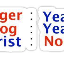 Vlogger Photog Not A Tourist Sticker
