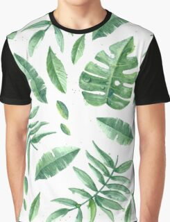 Green Leaves Pack (White Version) Graphic T-Shirt