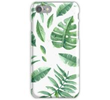 Green Leaves Pack (White Version) iPhone Case/Skin