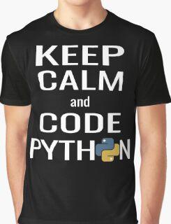 Funny Programmer - Keep Calm and Code Python Shirt Graphic T-Shirt