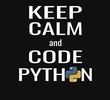 Funny Programmer - Keep Calm and Code Python Shirt Unisex T-Shirt
