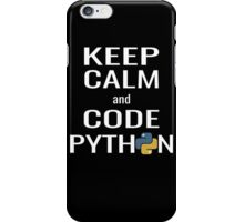 Funny Programmer - Keep Calm and Code Python Shirt iPhone Case/Skin