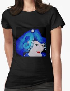 Lady Cephalopod  Womens Fitted T-Shirt