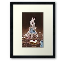 Rabbits Party Framed Print