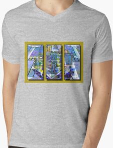 Geocity Mens V-Neck T-Shirt