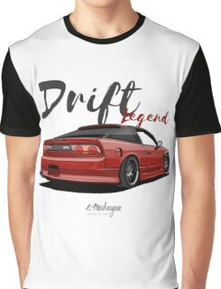 Nissan Silvia S13, 200SX, 240SX (red) Graphic T-Shirt