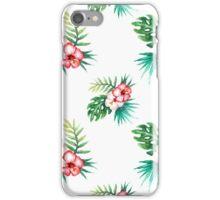 Tropical watercolor flowers pattern iPhone Case/Skin