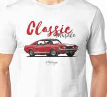 Classic Muscle. 1967 Mustang Shelby GT500 (red) Unisex T-Shirt