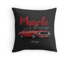 Muscle Garage. Camaro SS 1969 (red) Throw Pillow