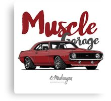 Muscle Garage. Camaro SS 1969 (red) Canvas Print