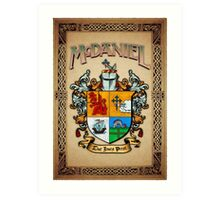 McDaniel coat of arms Art Print