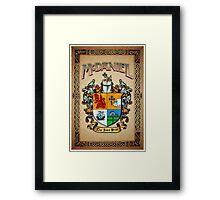 McDaniel coat of arms Framed Print