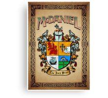 McDaniel coat of arms Canvas Print