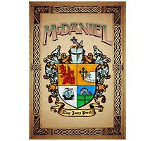 McDaniel coat of arms Photographic Print