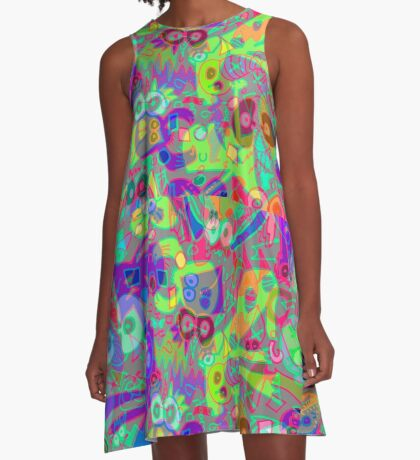blue cheese delirium A-Line Dress