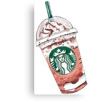 Starbucks coffe love Canvas Print