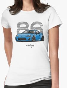 Toyota GT86 (blue) Womens Fitted T-Shirt