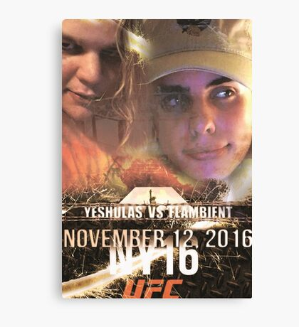 Yung Shula vs Flambient UFC 306 Canvas Print