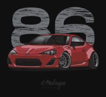 Toyota GT86 (red) One Piece - Short Sleeve