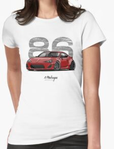 Toyota GT86 (red) Womens Fitted T-Shirt