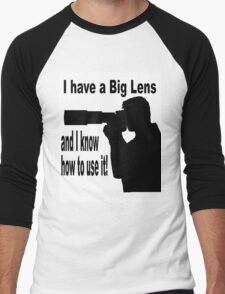 Big Lens Men's Baseball ¾ T-Shirt