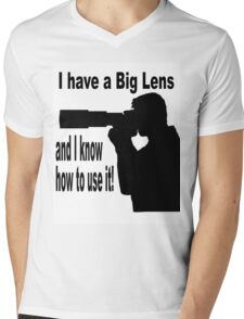 Big Lens Mens V-Neck T-Shirt