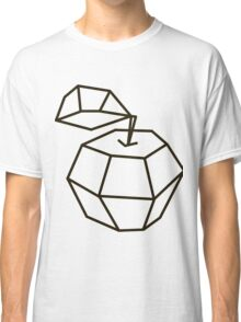 apple. polygonal design black and white drawing Classic T-Shirt