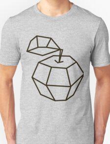 apple. polygonal design black and white drawing Unisex T-Shirt