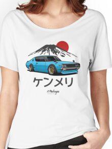 Nissan Skyline GTR Kenmeri (blue) Women's Relaxed Fit T-Shirt