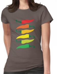 Ripening Chili Peppers Womens Fitted T-Shirt