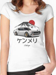 Nissan Skyline GTR Kenmeri (white) Women's Fitted Scoop T-Shirt