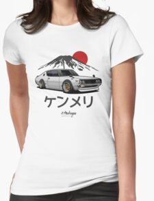 Nissan Skyline GTR Kenmeri (white) Womens Fitted T-Shirt