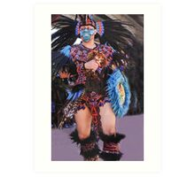 Aztec Dancer Art Print