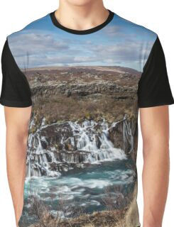 Bjarnafoss waterfall Graphic T-Shirt